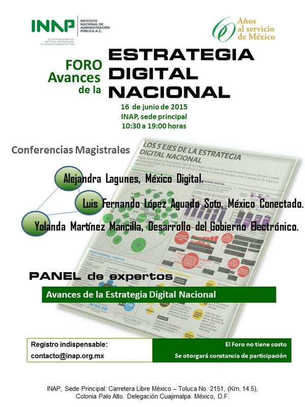 Avances de la Estrategia Digital Nacional, un foro del INAP