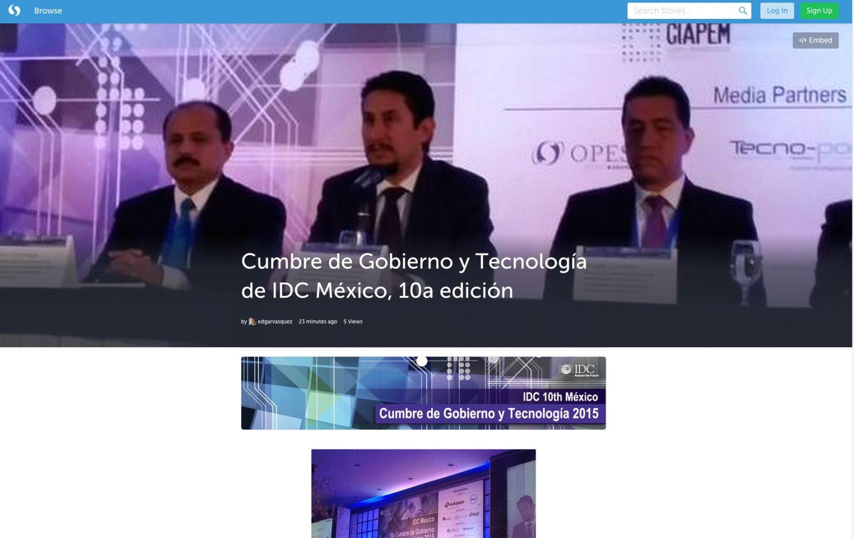 10a edición de la Cumbre de Gobierno y Tecnología organizada por IDC México