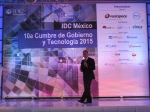 Edgar Vásquez Cruz en 10a Cumbre de Gobierno y Tecnologia 2015 de IDC