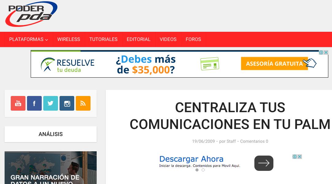 Centraliza tus comunicaciones en tu Palm por Edgar Vásquez Cruz
