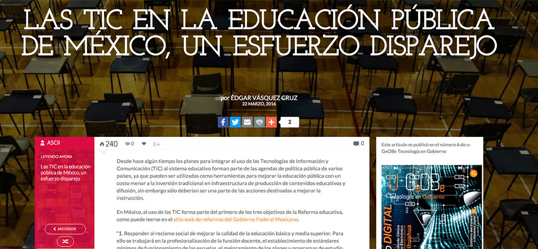 Las TIC en la educación pública de México
