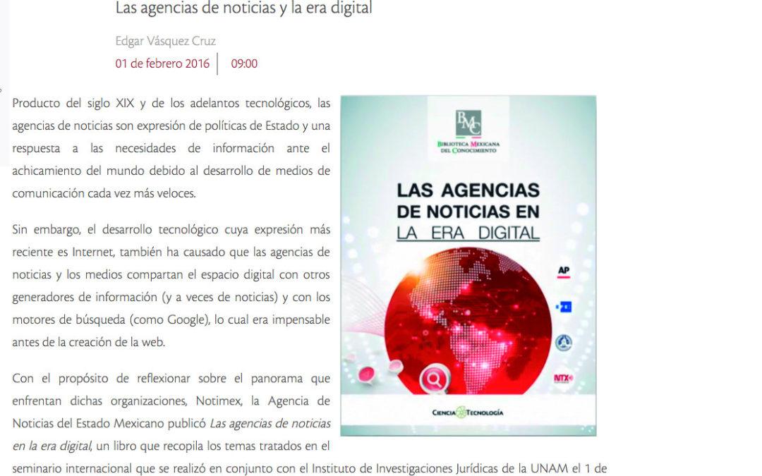 Las agencias de noticias y la era digital