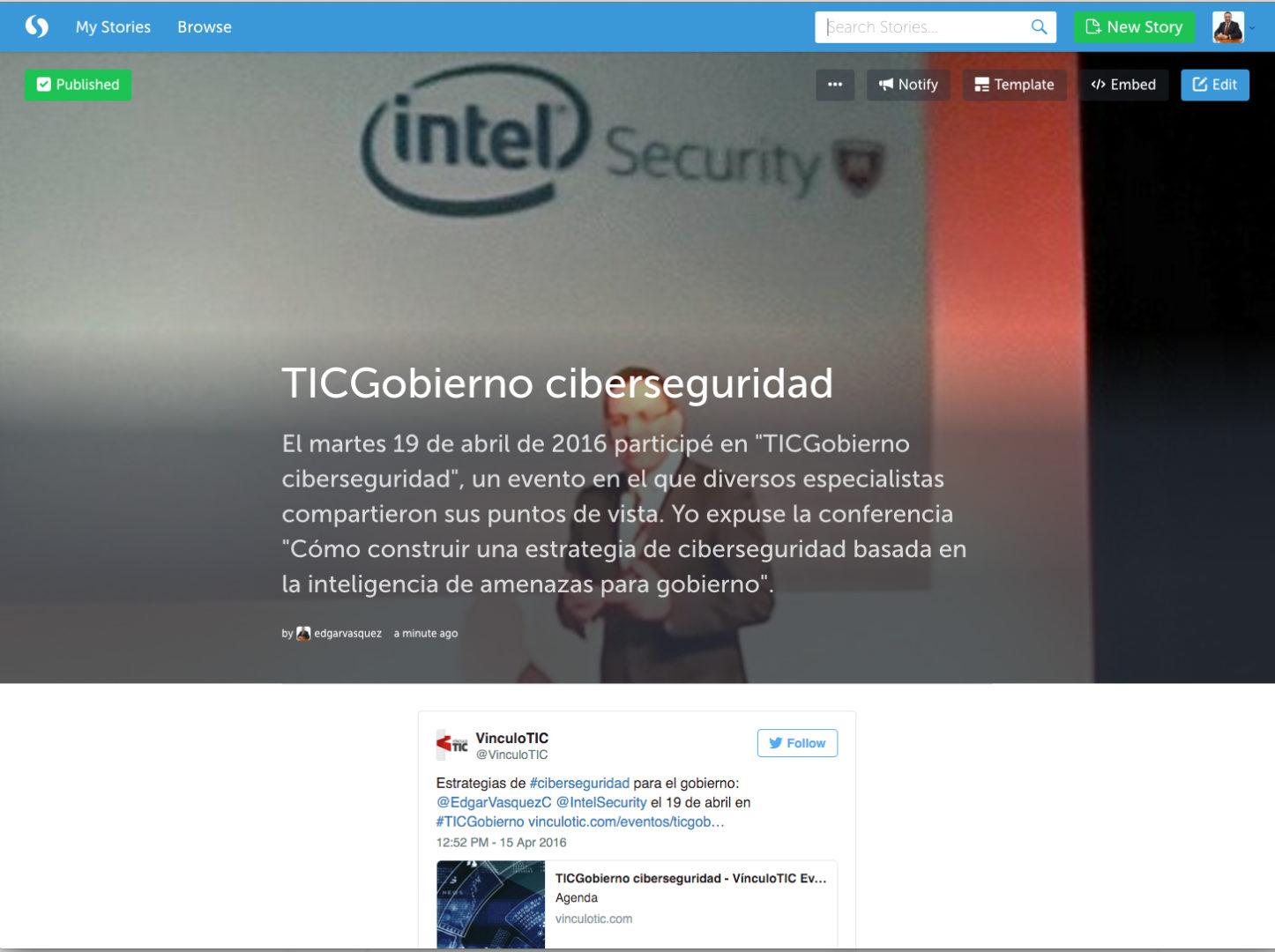 Gobierno y ciberseguridad en Vínculo TIC