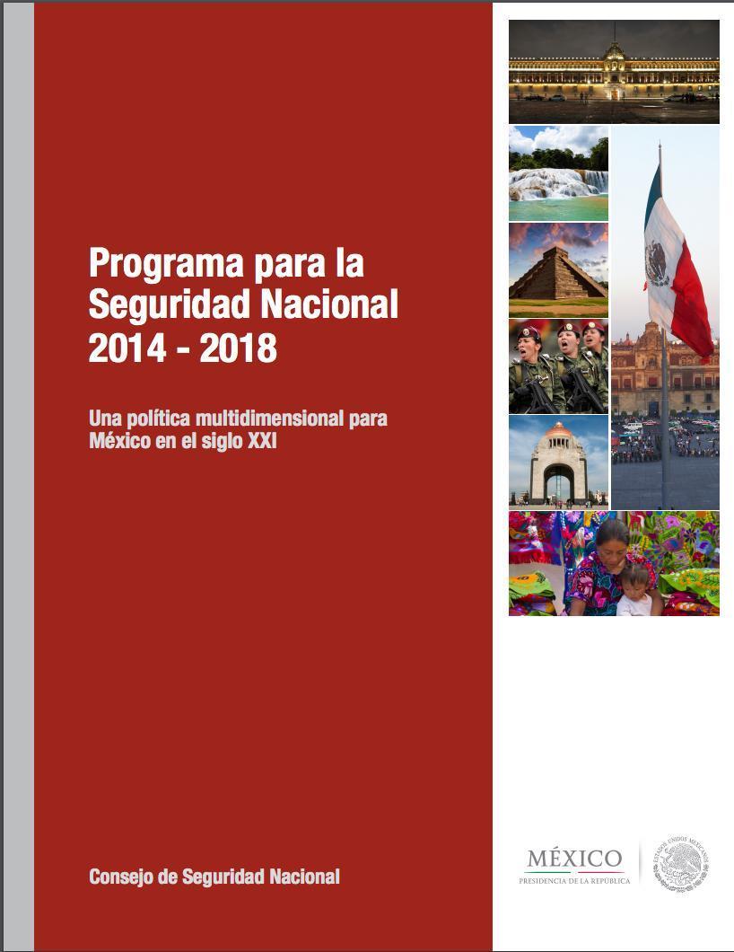 Programa para la Seguridad Nacional 2014 - 2018 de la Presidencia de la República