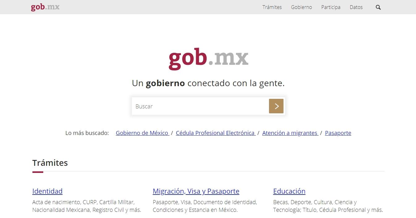 El sitio Gob.mx herencia para AMLO