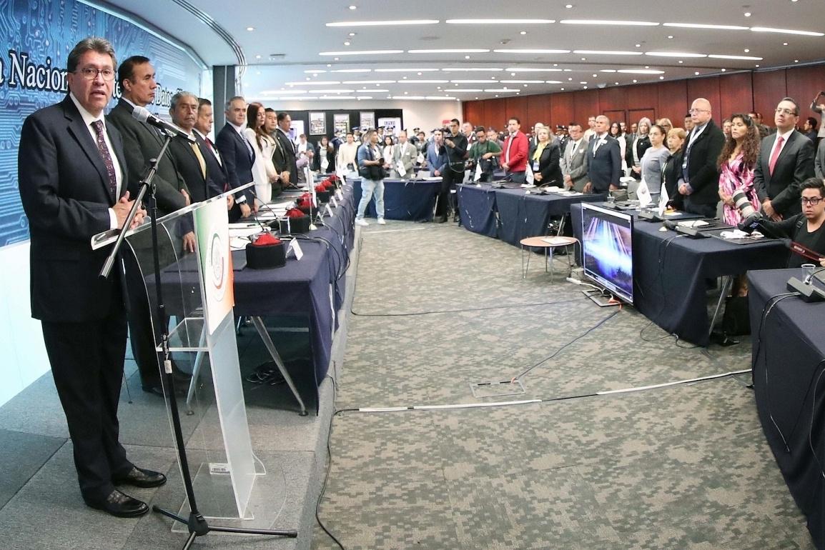 Ricardo Monreal, líder de Morena en el Senado clausura UNIPOL 2019
